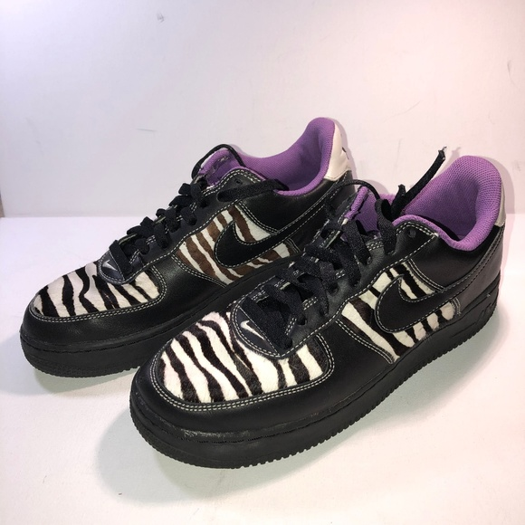 affordable price popular stores hot sale Nike Air Force 1 Zebra - Sz 10